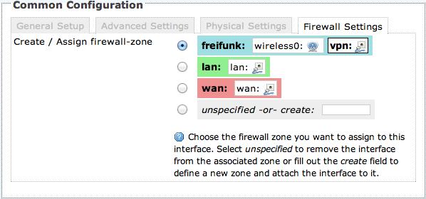 Firewall Einstellungen